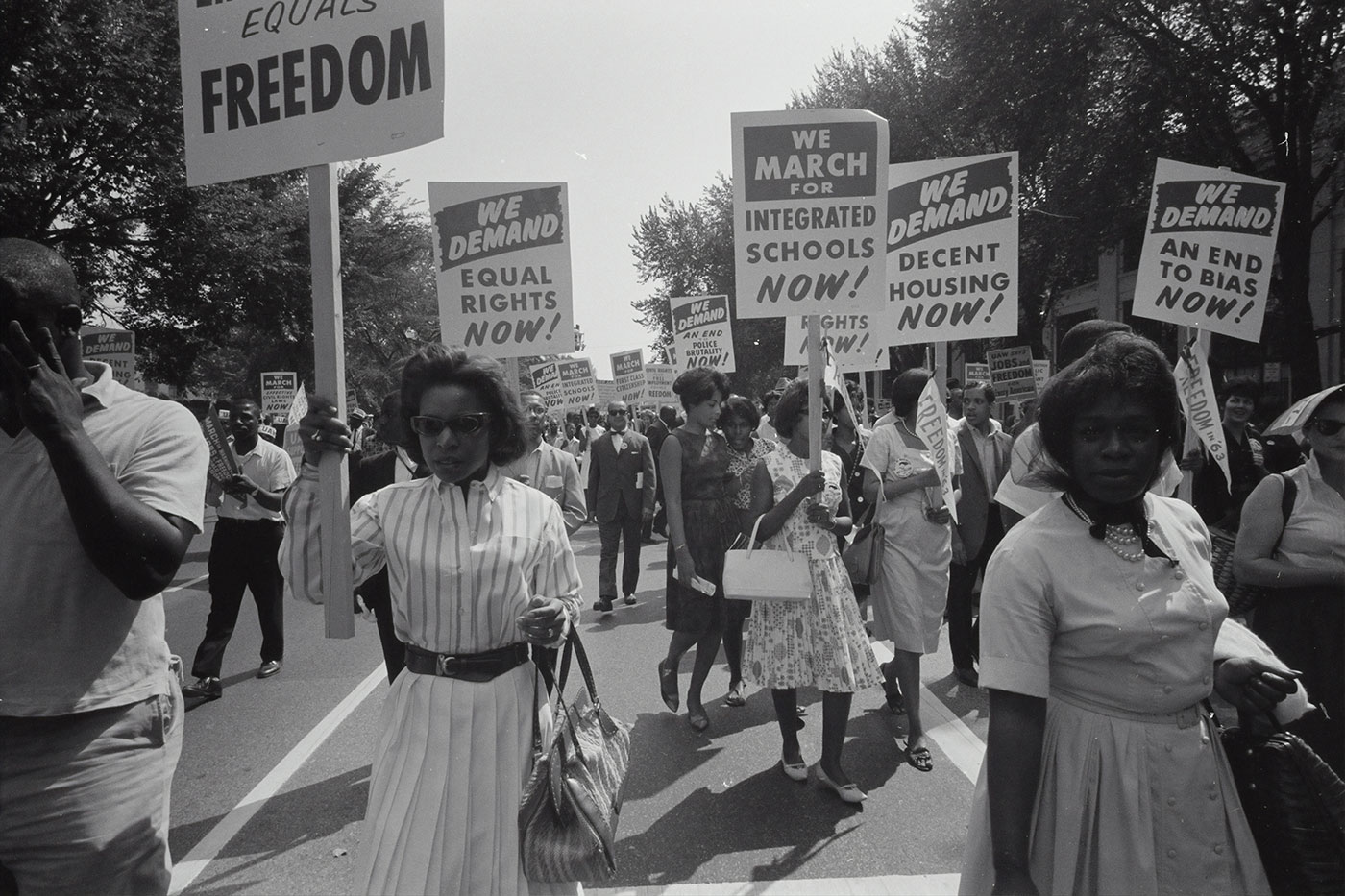 library of congress photo of civil rights protesters